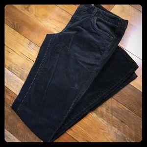 Dark navy corduroy jeans